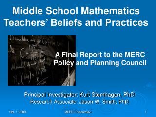 Principal Investigator: Kurt Stemhagen, PhD Research Associate: Jason W. Smith, PhD