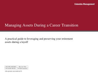 Managing Assets During a Career Transition