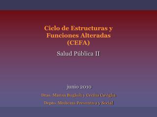 Ciclo de Estructuras y Funciones Alteradas  (CEFA) Salud Pública II junio 2010