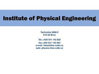Institute of Physical Engineering