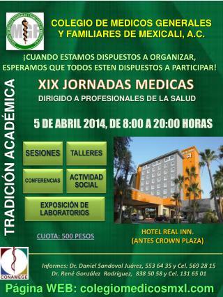 COLEGIO DE MEDICOS GENERALES  Y FAMILIARES DE MEXICALI, A.C.