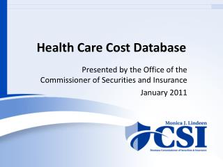 Health Care Cost Database