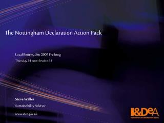 The Nottingham Declaration Action Pack
