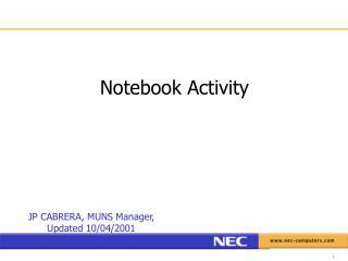 Notebook Activity