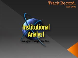 Track Record. 1995-2009