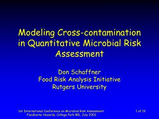 Modeling Cross-contamination in Quantitative Microbial Risk Assessment