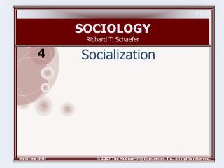 SOCIOLOGY Richard T. Schaefer