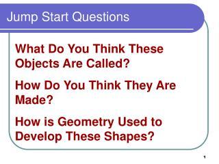 Jump Start Questions