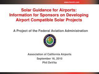 Association of California Airports September 16, 2010 Phil DeVita