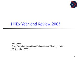 HKEx Year-end Review 2003