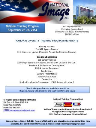 National  Training  Program September 22 -25, 2014