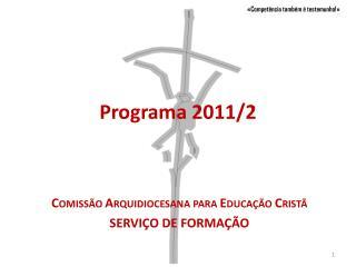 Programa 2011/2
