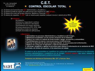C.E.T.         Control  Escolar  Total