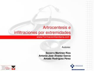 Artrocentesis e infiltraciones por extremidades