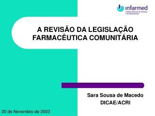 Sara Sousa de Macedo DICAE/ACRI