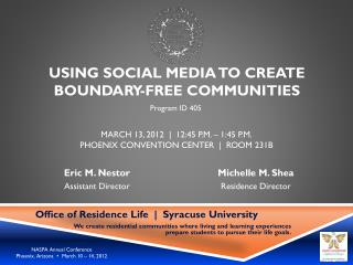 Using social media to create boundary-free communities