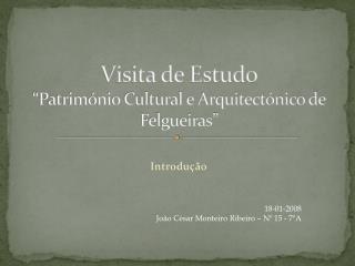 """Visita de Estudo """"Património Cultural e Arquitectónico de Felgueiras"""""""