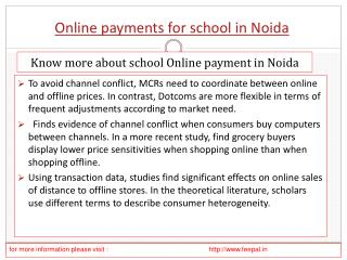 Search best sites of online payment for school in Noida