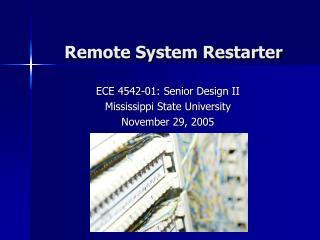 remote system restarter
