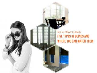 Not So �Blind� to Blinds: Five Types of Blinds and Where You