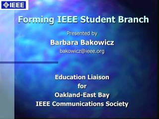 Forming IEEE Student Branch