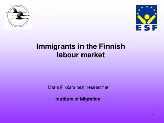 Immigrants in the Finnish labour market