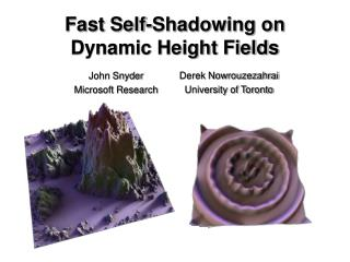 Fast Self-Shadowing on Dynamic Height Fields