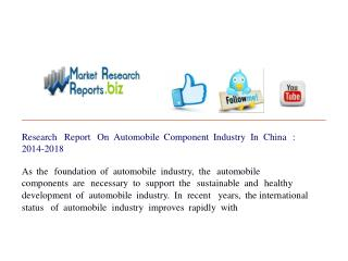 Automobile Component Industry In China :