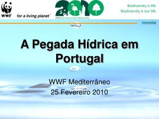 A Pegada Hídrica em Portugal