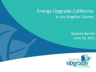 Energy Upgrade California In Los Angeles County