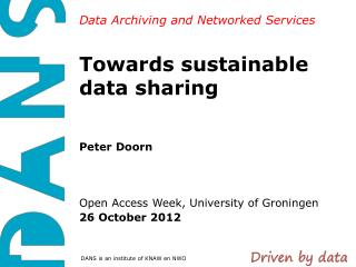 Towards sustainable data sharing
