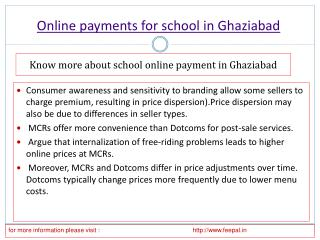 Online payment for school in Ghaziabad