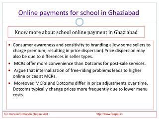 Online payment for school in Ghaziabad
