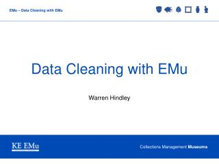 Data Cleaning with EMu