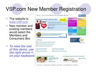 VSP New Member Registration
