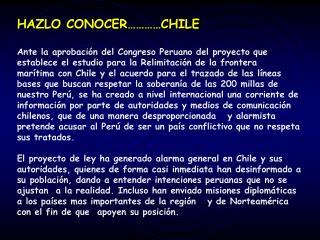 HAZLO CONOCER…………CHILE