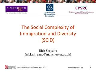 The Social Complexity of  Immigration and Diversity (SCID)