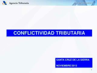 CONFLICTIVIDAD TRIBUTARIA