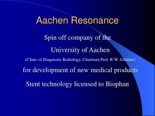 Aachen Resonance