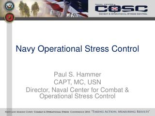Navy Operational Stress Control