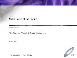 Sales Force of the Future