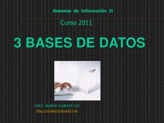 3 BASES DE DATOS