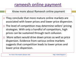 Feepal provide best  services of rameesh online payment