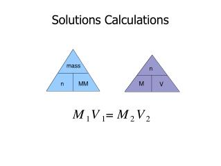 Solutions Calculations