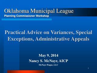 May  9, 2014 Nancy S. McNayr, AICP McNayr Paque, LLC