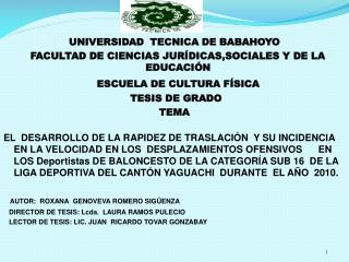 UNIVERSIDAD  TECNICA DE BABAHOYO   FACULTAD DE CIENCIAS JURÍDICAS,SOCIALES Y DE LA EDUCACIÓN