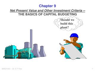 Net Present Value and Other Investment Criteria -- THE BASICS OF CAPITAL BUDGETING