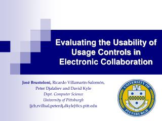 Evaluating the Usability of Usage Controls in Electronic Collaboration