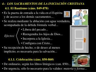 4.-  LOS SACRAMENTOS DE LA INICIACIÓN CRISTIANA