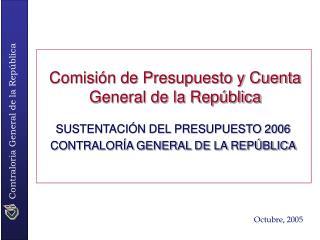 Comisión de Presupuesto y Cuenta General de la República